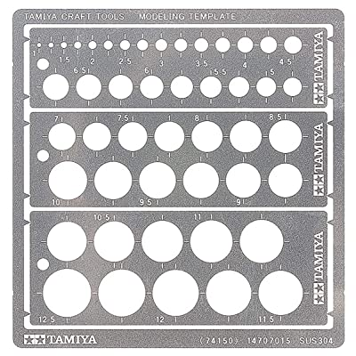 Tamiya Modeling Template (Round, 1-12.5mm) 74150: Toys & Games
