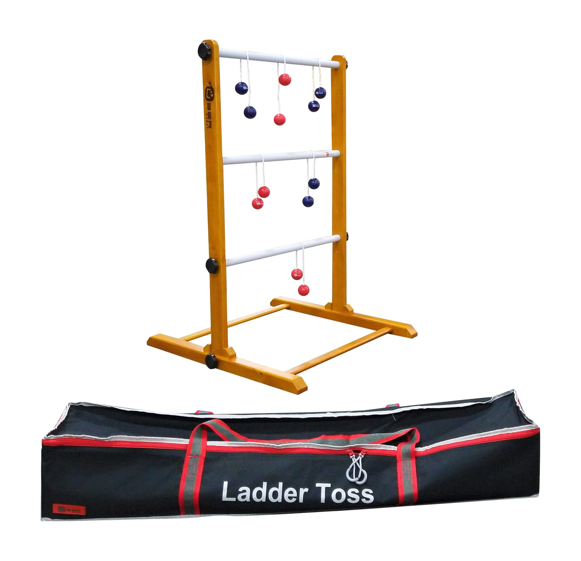 Uber Games Ladder Toss - Single Game - Navy Blue and Red Bolas