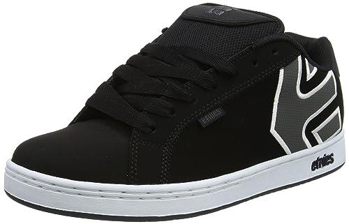 Etnies Fader - Zapatillas para Hombre, Negro (Black/White/Silver), 45 EU