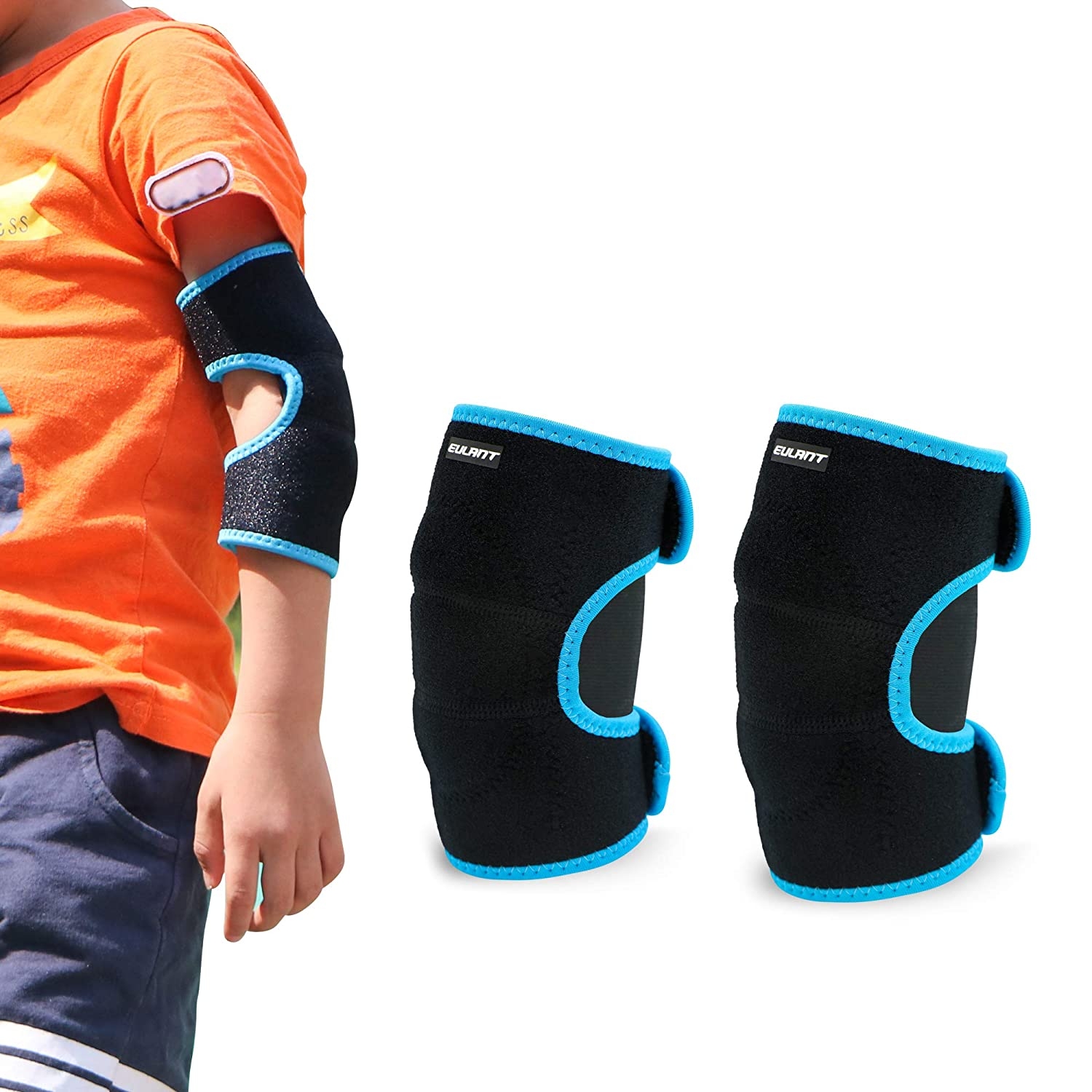 Sborter Protective Knee Pads for Children, Soft Adjustable Kids Elbow Pads with Thick Sponge, Protect The Knee Elbow, 1 Pair