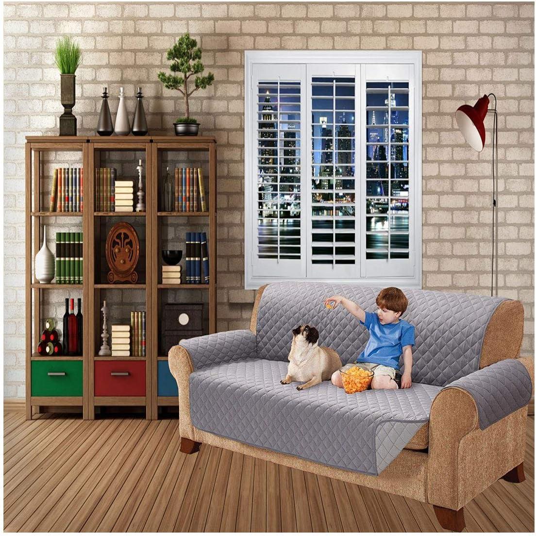 per divani di tutte le misure 1 posto Nero Copri-divano trapuntato impermeabile