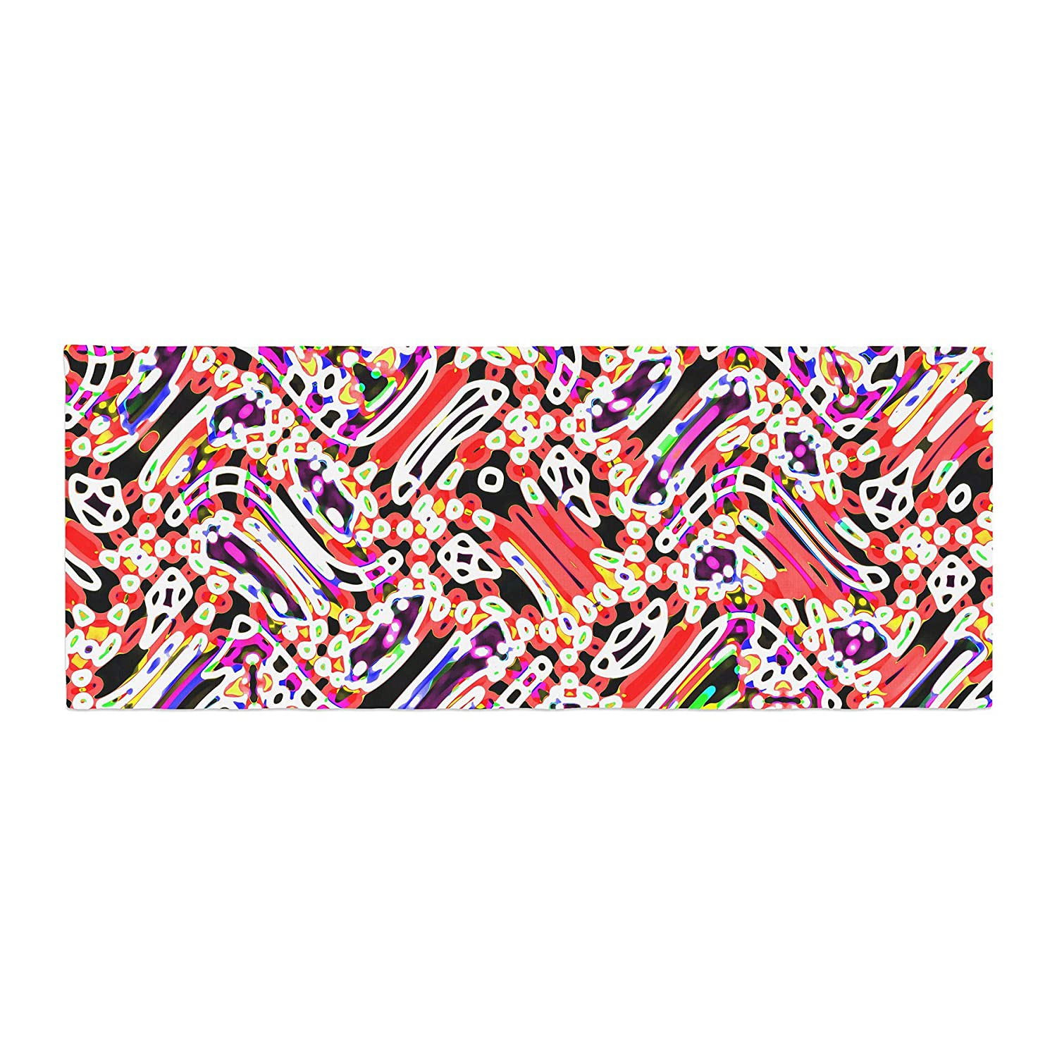 Kess InHouse Dawid ROC Camouflage Pattern 2' Multicolor Abstract Bed Runner
