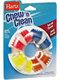Hartz Chew N Clean Bacon Flavor Teething Ring Dog Toy - 3 Pack