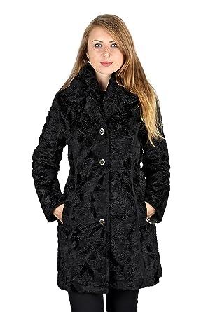 8a662ac909e6c Laundry By Shelli Segal Black Faux Fur Reversible 3 4 Plus Size Coat ...