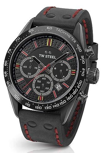 TW Steel Reloj Cronógrafo para Unisex Adultos de Cuarzo con Correa en Cuero TW987: Amazon.es: Relojes