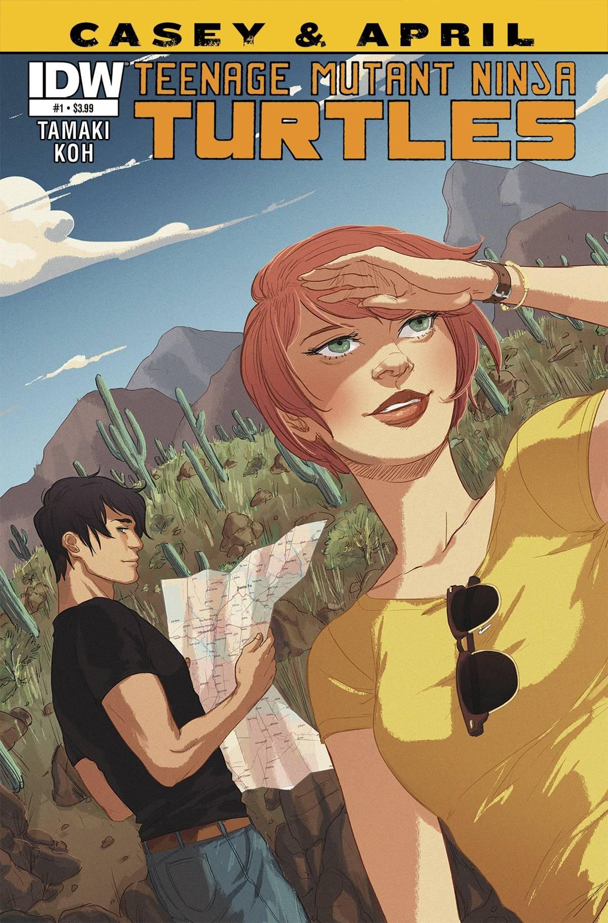 TEENAGE MUTANT NINJA TURTLES CASEY & APRIL #1 Of(4): Amazon ...