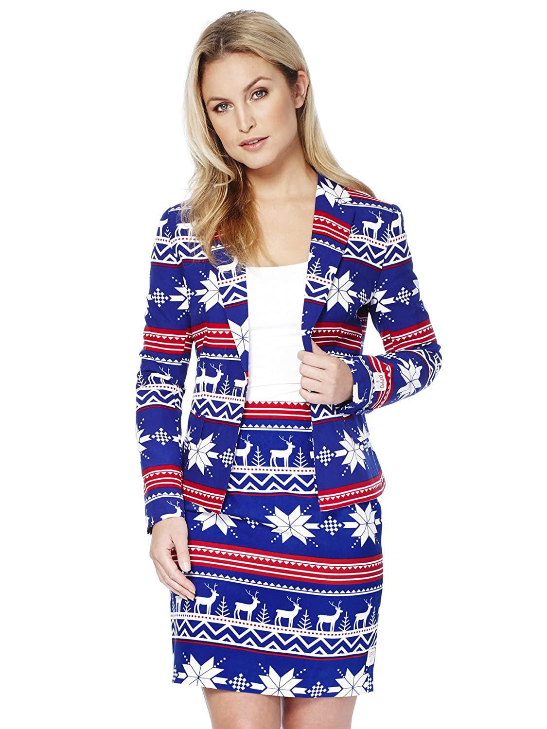 Opposuits Fun Christmas Suits - Full Set Contains Jacket and Skirt US14