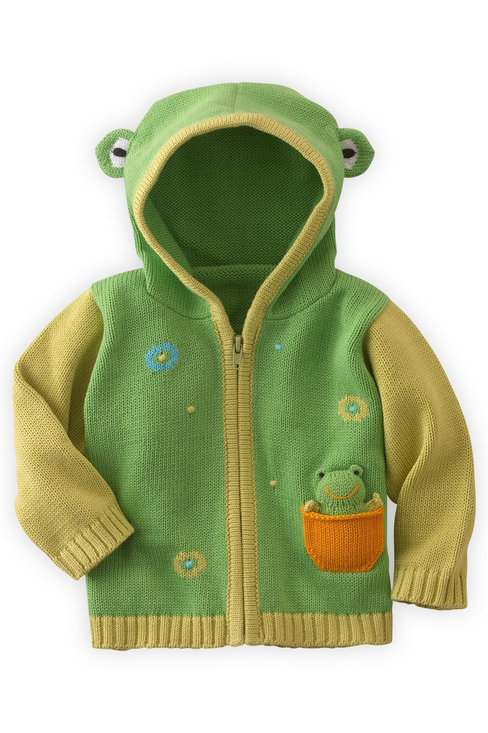 Joobles Organic Baby Cardigan Sweater - Flop The Frog (12-18 Mos) Green by Joobles