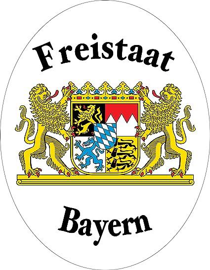 Aufkleber Freistaat Bayern