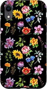 iPhone XR Wildflowers Boho Vintage Botanic Flower Power Floral Case