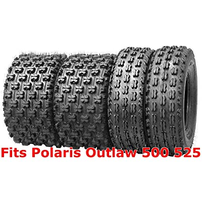 (4) 21x7-10 & 20x10-9 Polaris Outlaw 500 525 GNCC Racing ATV Tire Set