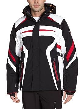 Veste ski homme rouge et noir