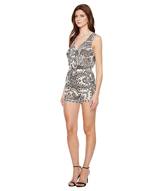 910fe83c48f8 Amazon.com  Lucky Brand Womens Tie Front Romper  Clothing