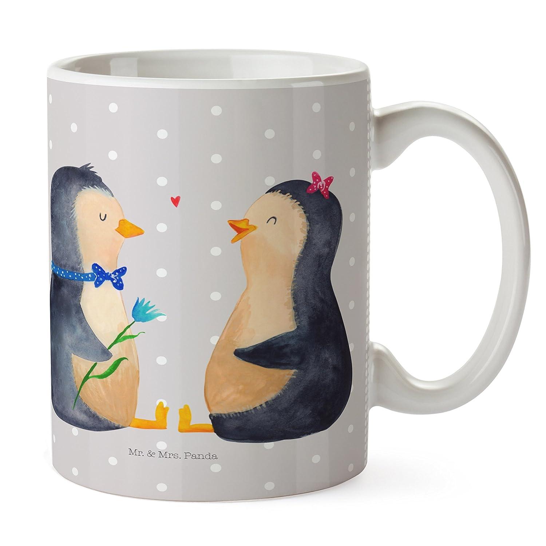 Mr. & Mrs. Panda Tasse Pinguin Pärchen - Pinguin, Pinguine, Liebe, Liebespaar, Liebesbeweis, Liebesgeschenk, Verlobung, Jahrestag, Hochzeitstag, Hochzeit, Hochzeitsgeschenk, große Liebe, Traumpaar Tasse, Becher, Kaffeetasse, Kaffeebecher, Teetasse, Tee