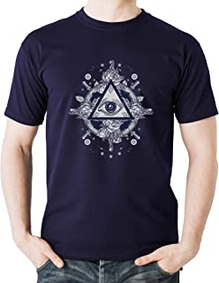 Eye All Seeing Eye Goods Sign Cool Sweatshirt Young and Free City Style Urban T-Shirt Hombre Negro