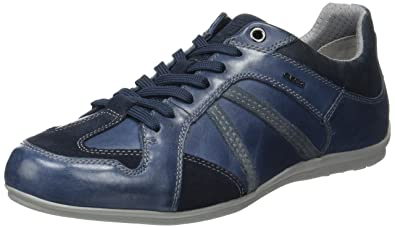 Zapatos azules Geox Houston para hombre AHx0k1o73