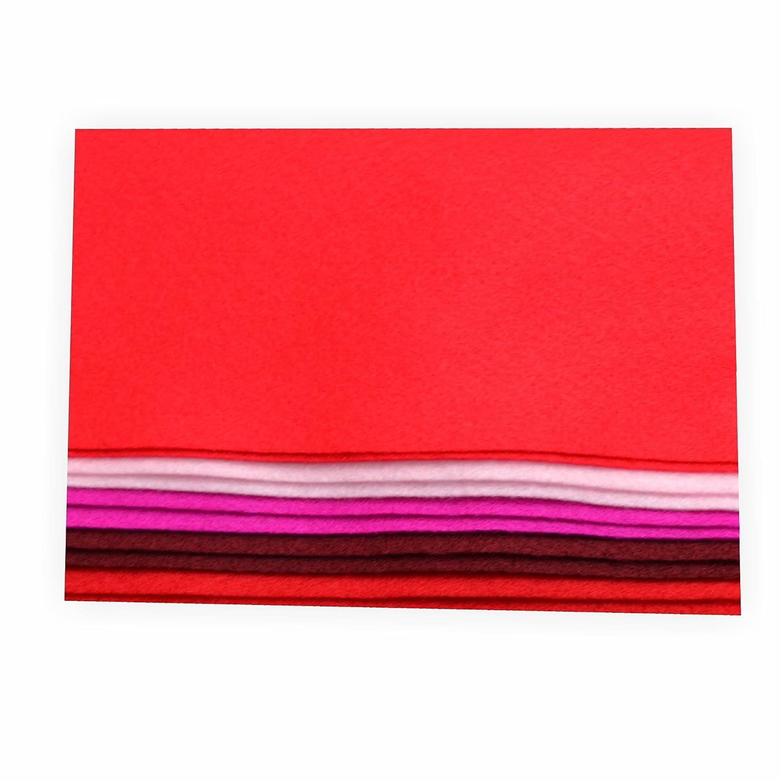 Creleo 791081–feltro per bricolage, ton Mix 20x 30cm, 10fogli, rosso Trendstyle Retail
