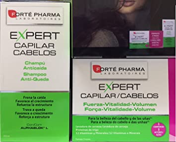 Amazon.com : FORTE PHARMA EXPERT HAIR CAPILAR 84 CAPS Anti ...