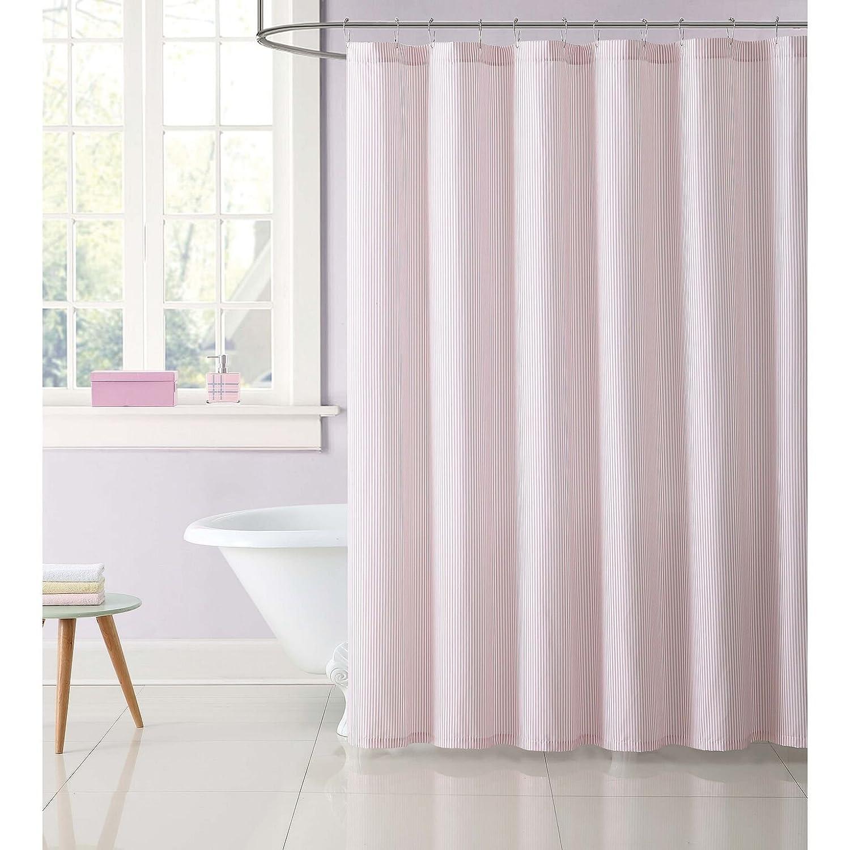 Amazon My World Printed Stripe Shower Curtain Pink Home Kitchen