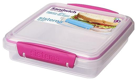 5 opinioni per Sistema To Go-Contenitore per panino, colore: trasparente/rosa, peso 15,2 g
