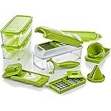 Genius Nicer Dicer Smart | 16 Teile | Schneiden | Reiben | Julienne | Spiralen | Hobeln | Würfeln | Obst- und Gemüseschneider | Bekannt aus TV | NEU