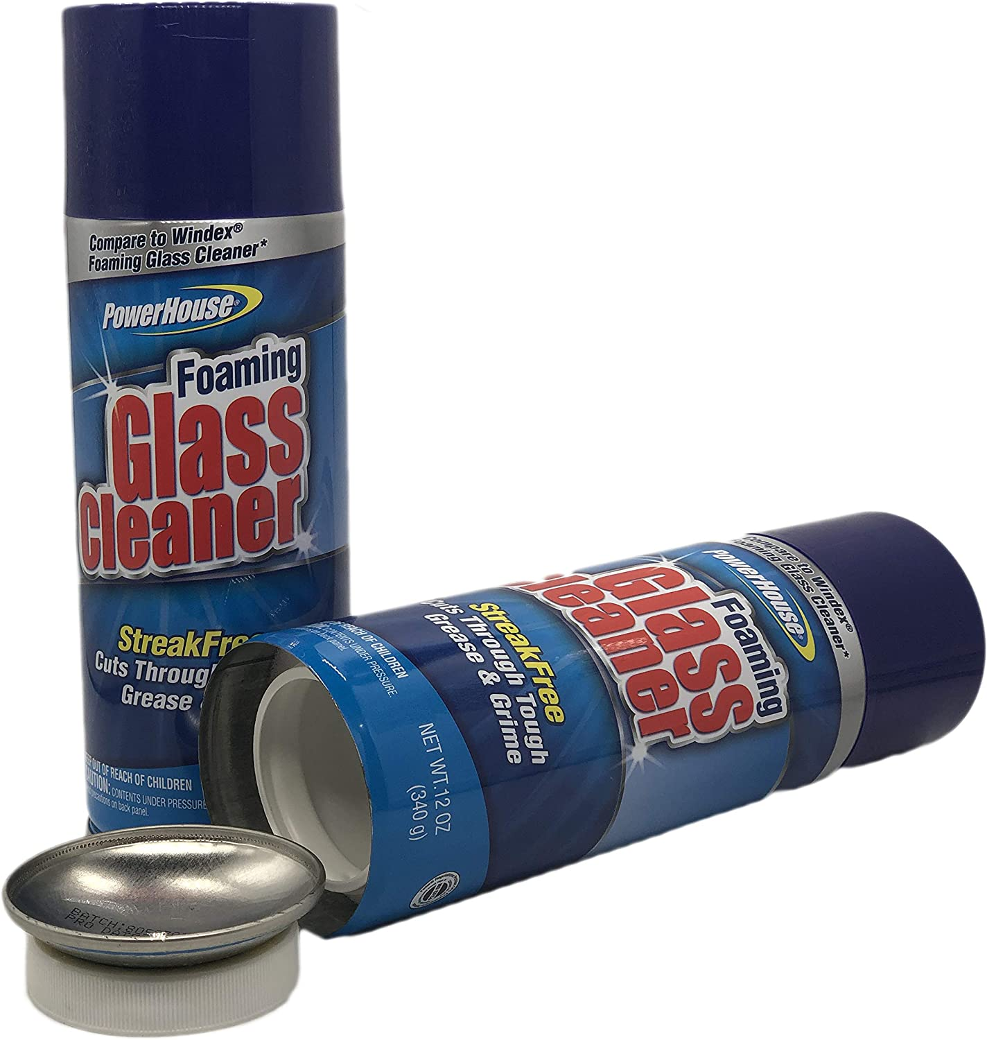 Powerhouse Foaming Glass Cleaner Diversion Stash Safe