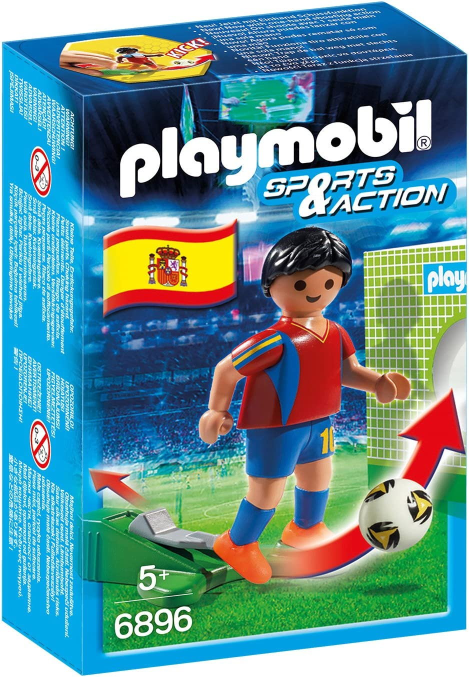 PLAYMOBIL - Futbolista España (68960): Amazon.es: Juguetes y juegos