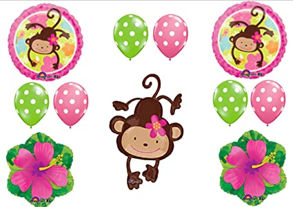 Image Unavailable. not available for. Color: MOD MONKEY LOVE 1ST BIRTHDAY PARTY Balloons Decorations Amazon.com: