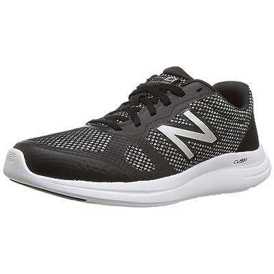 New Balance Women's Versi v1 Cushioning Running Shoe, Black/Silver, 8 B US | Road Running