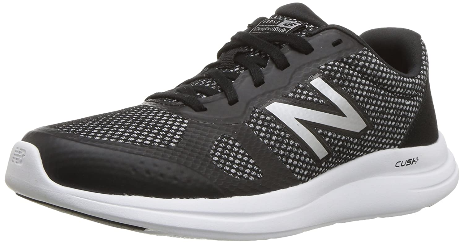 New Balance Women's Versi v1 Cushioning Running Shoe B0751SMH74 5.5 B(M) US|Black/Silver