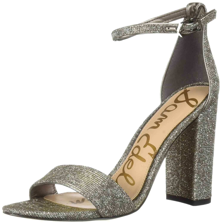 Silver gold Leopard Glitz Mesh Sam Edelman Women's Yaro Heeled Sandal