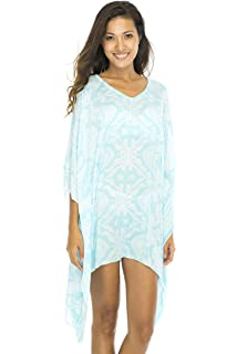 c49fc17dfc2f8 Back From Bali Womens Boho Short Beach Dress Swimsuit Cover up Caftan  Primitive