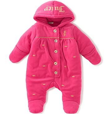 9f3f49f96 Juicy Couture Baby-Girls Pram - Velour Sweatsuit - Pink -: Amazon.co.uk:  Clothing