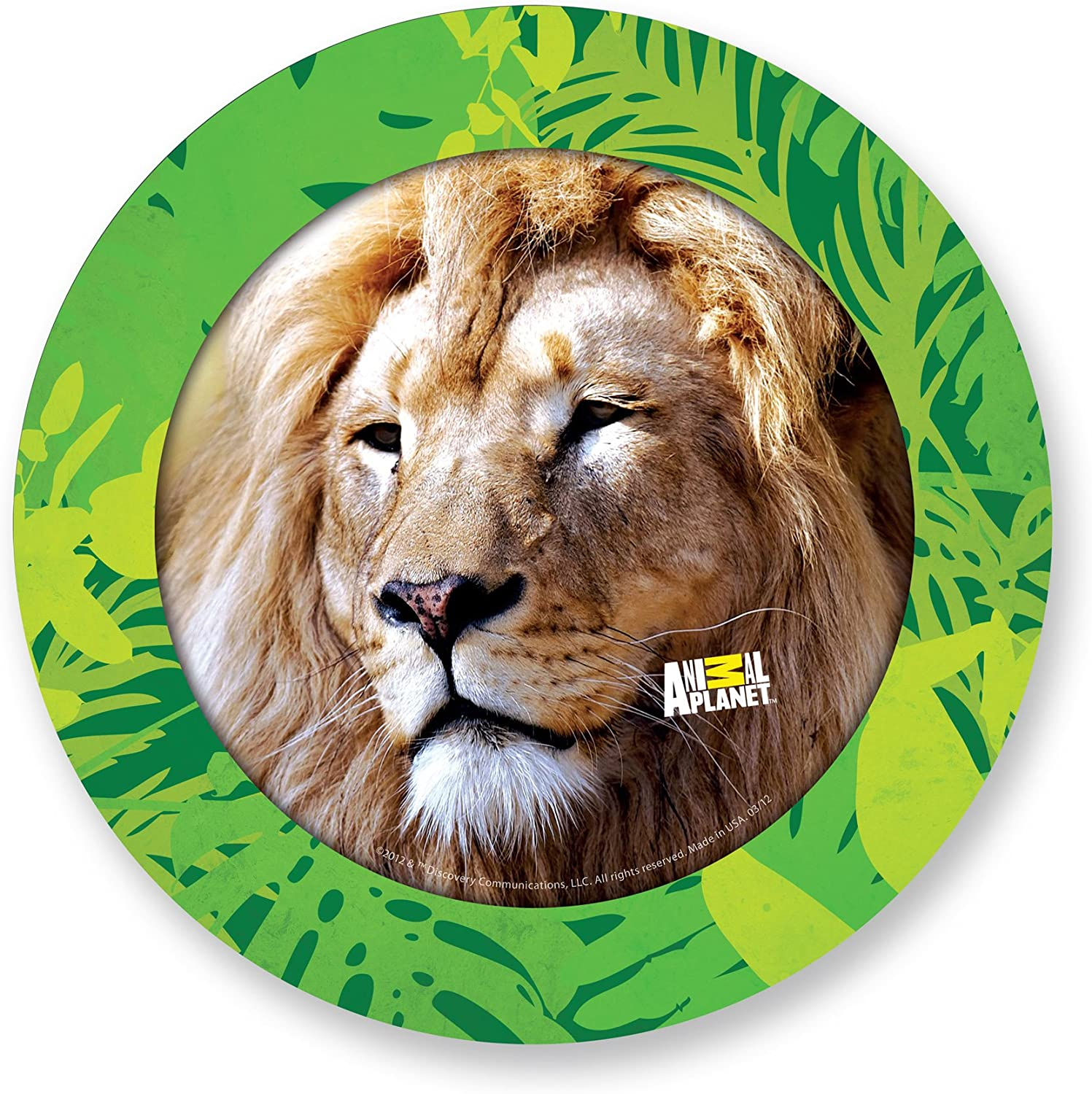 Primary Colors Animal Planet 9-Inch Party Plates 877 Set of 8