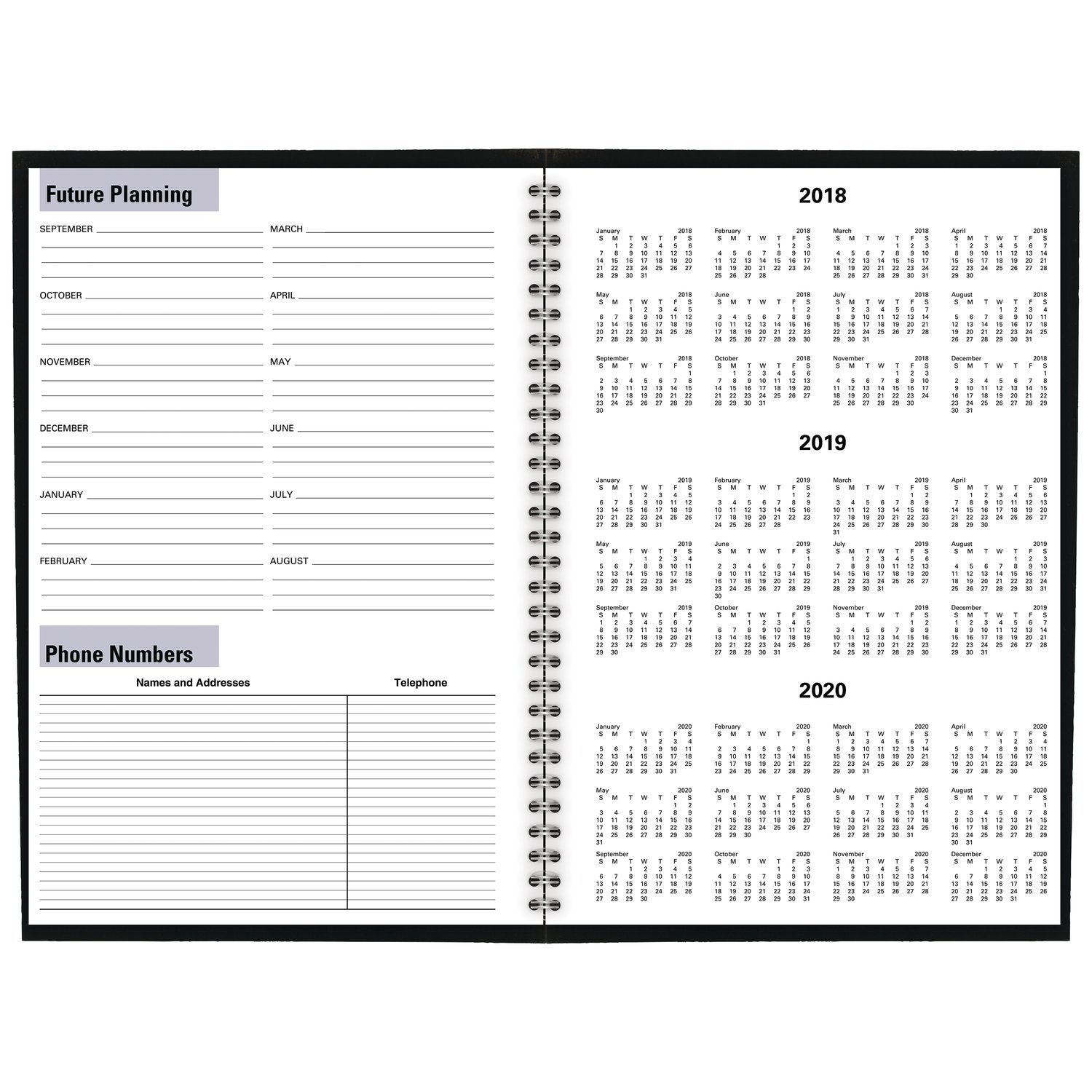 AY200 Black Large DayMinder 8 x 12 AT-A-GLANCE 2019-2020 Academic Year Monthly Planner