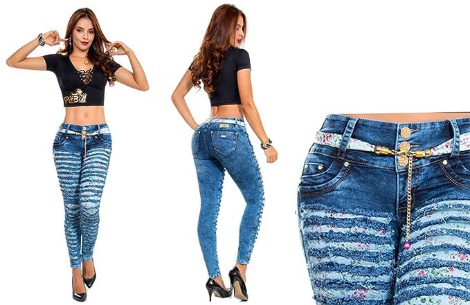 Vaqueros Jeans Azules Rasgados Wonder / Push Up Súper ...