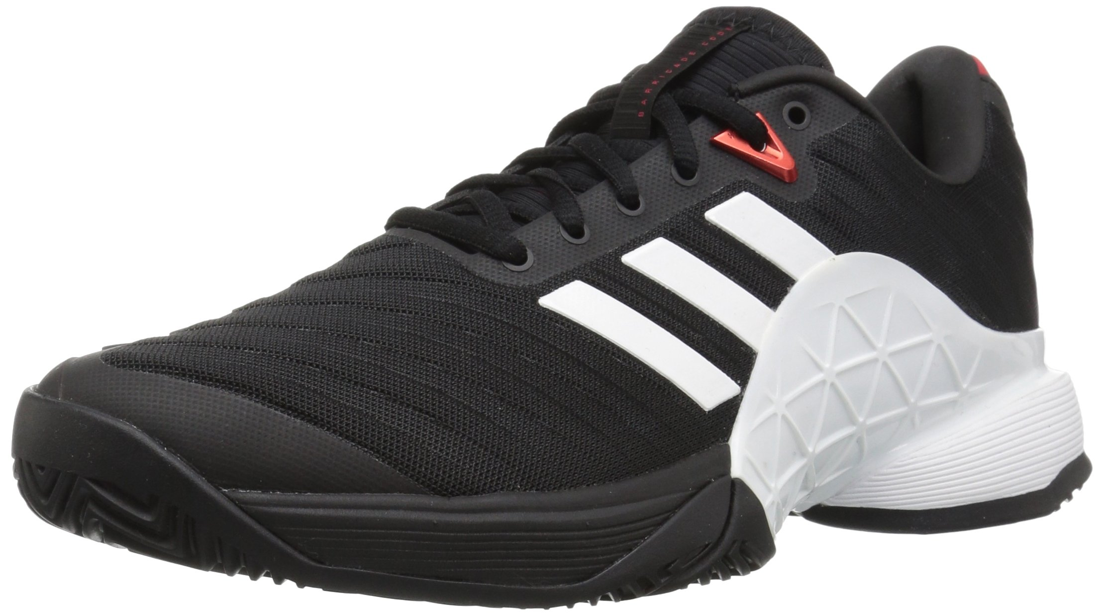 adidas Performance Men's Barricade 2018 Tennis Shoe, Core Black/White/Scarlet, 5 M US