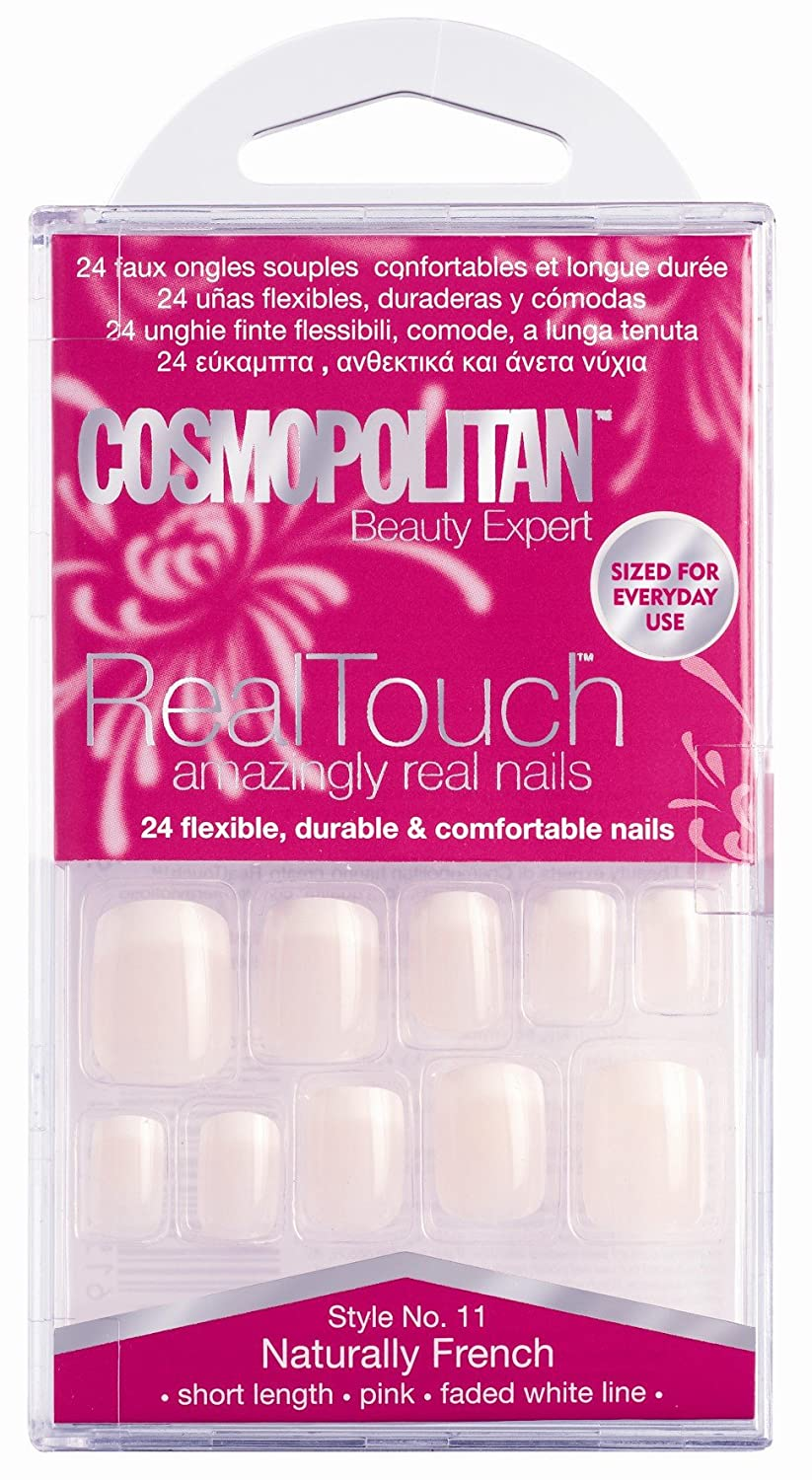 Cosmopolitan Real Touch Amazingly Real Nails Naturally French Style 11 Hampton Brands Ltd COS2011