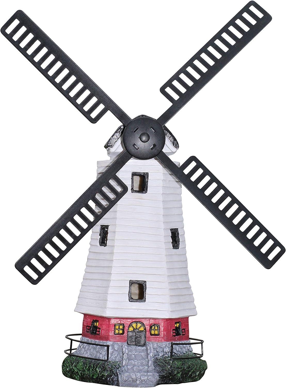 Al Aire Libre, Molino de Viento de Energía Solar; Decoración para ...