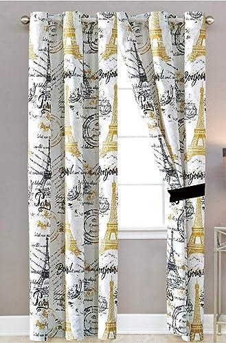 LinenTopia Paris-Theme Design Window Curtain Panel Set 2 Panels Review
