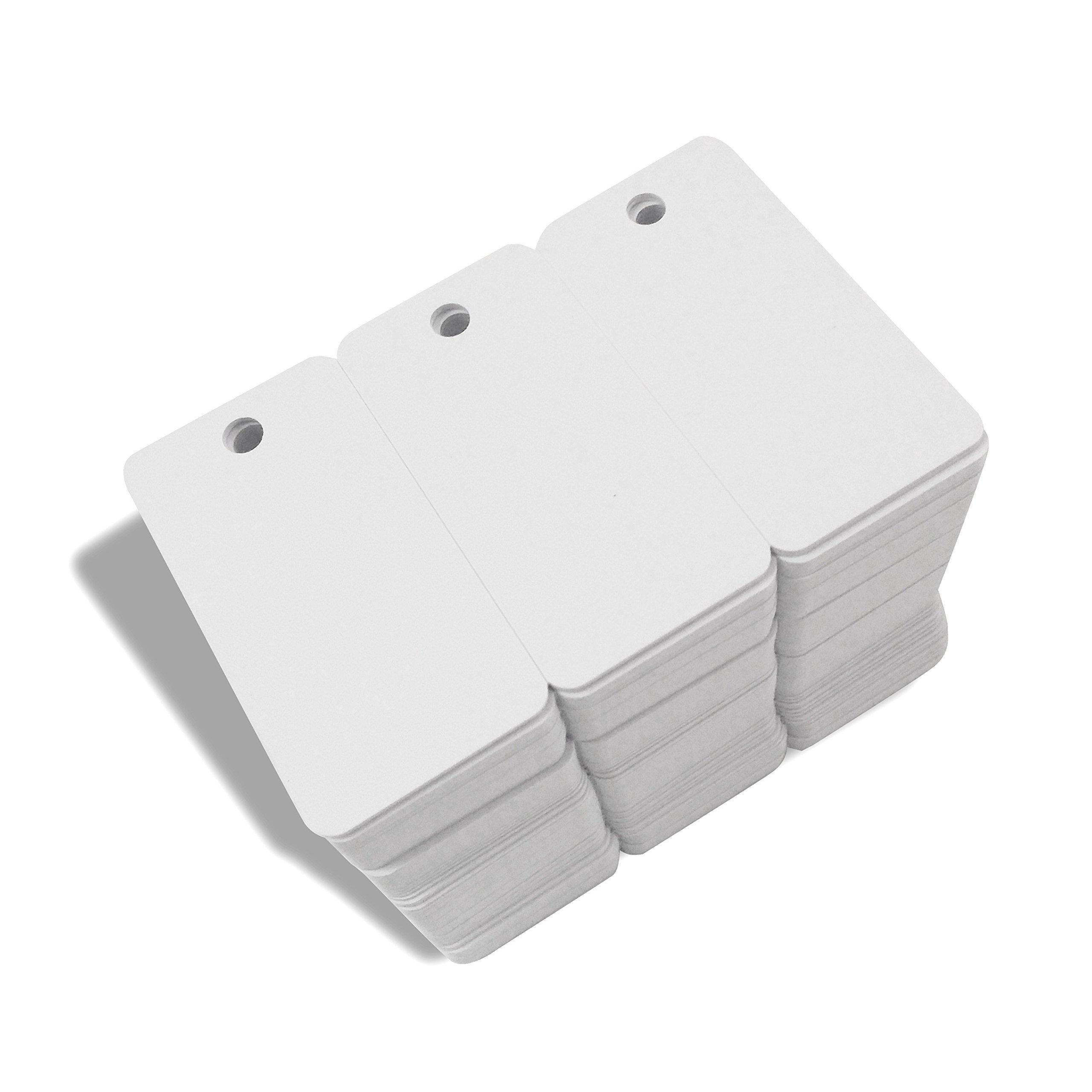 3-up Breakaway Key Tags, White Blank Inkjet PVC Cards CR80 30Mil Plasitc ID Cards (100)
