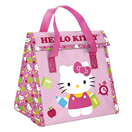 4e4815c72c Image Unavailable. Image not available for. Color  Zak! Designs Insulated  Lunch Bag with Closure featuring Hello Kitty ...