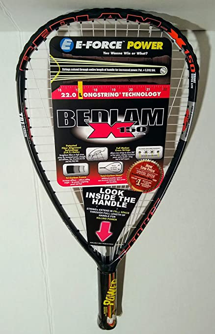 Amazon.com: E-force Bedlam x150 racquetball raqueta: Sports ...