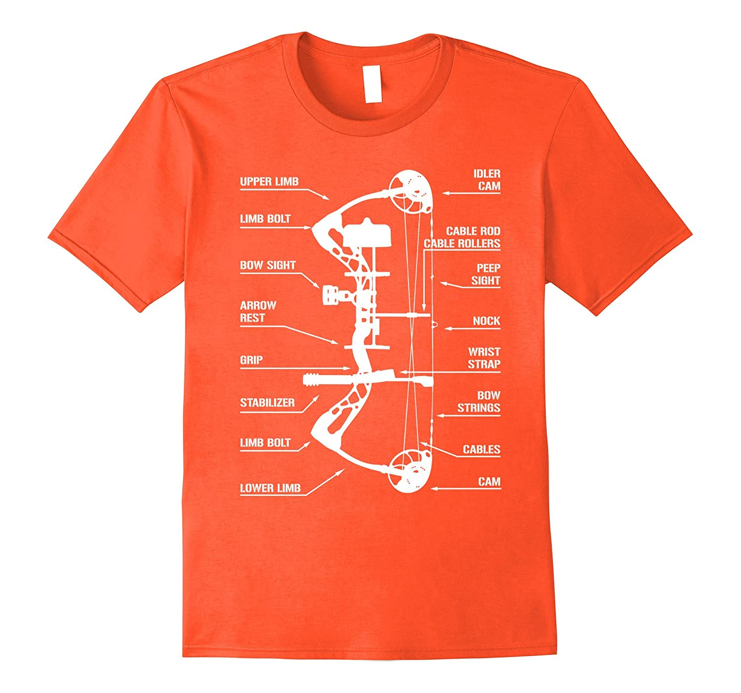 Compound Bow Archery Hunting Anatomy T Shirt Funny Bow Th Teehelen