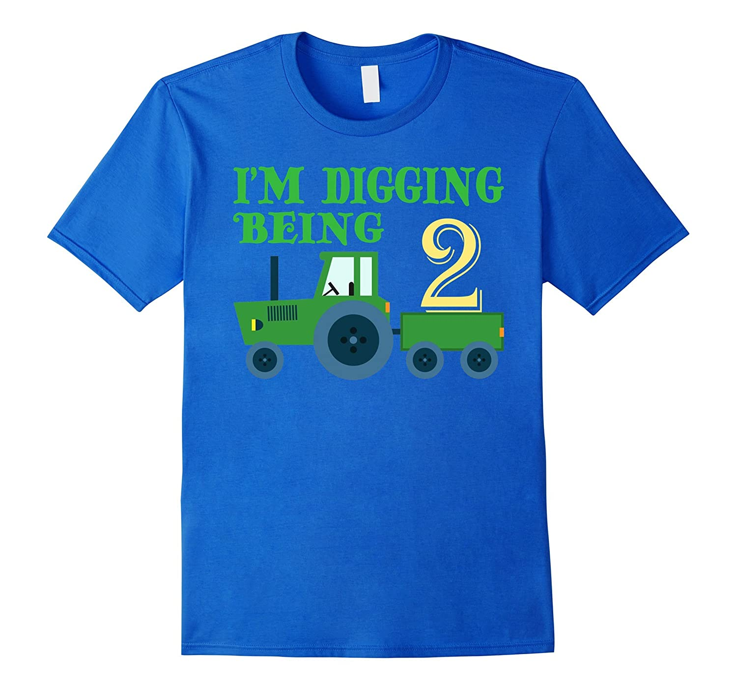 2 Year Old Tractor Birthday Shirt Im Digging Being CL