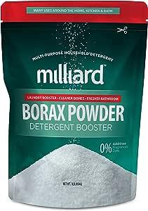MILLIARD Borax Powder - Pure Multi-Purpose Cleaner 1 lb (.5 kg) Bag