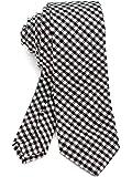 [ダブリューアンドエム] コットン 綿 リネン 麻 6cm 幅 ナロータイ スリムタイ スキニータイ 細 ネクタイ ビジネス 洗濯 可能 無地 & 柄