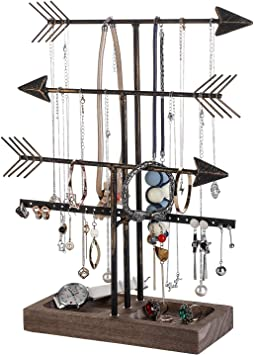 Amazon Com Urban Deco Arrow Jewelry Organizer Holder 4 Tier Jewelry Stand Organizers With Wood Storage Box For Girls And Women To Organize Necklace Earrings Bracelet Ring Watch And Hair Tie Home Improvement Check out our stand arrow selection for the very best in unique or custom, handmade pieces from did you scroll all this way to get facts about stand arrow? urban deco arrow jewelry organizer holder 4 tier jewelry stand organizers with wood storage box for girls and women to organize necklace earrings