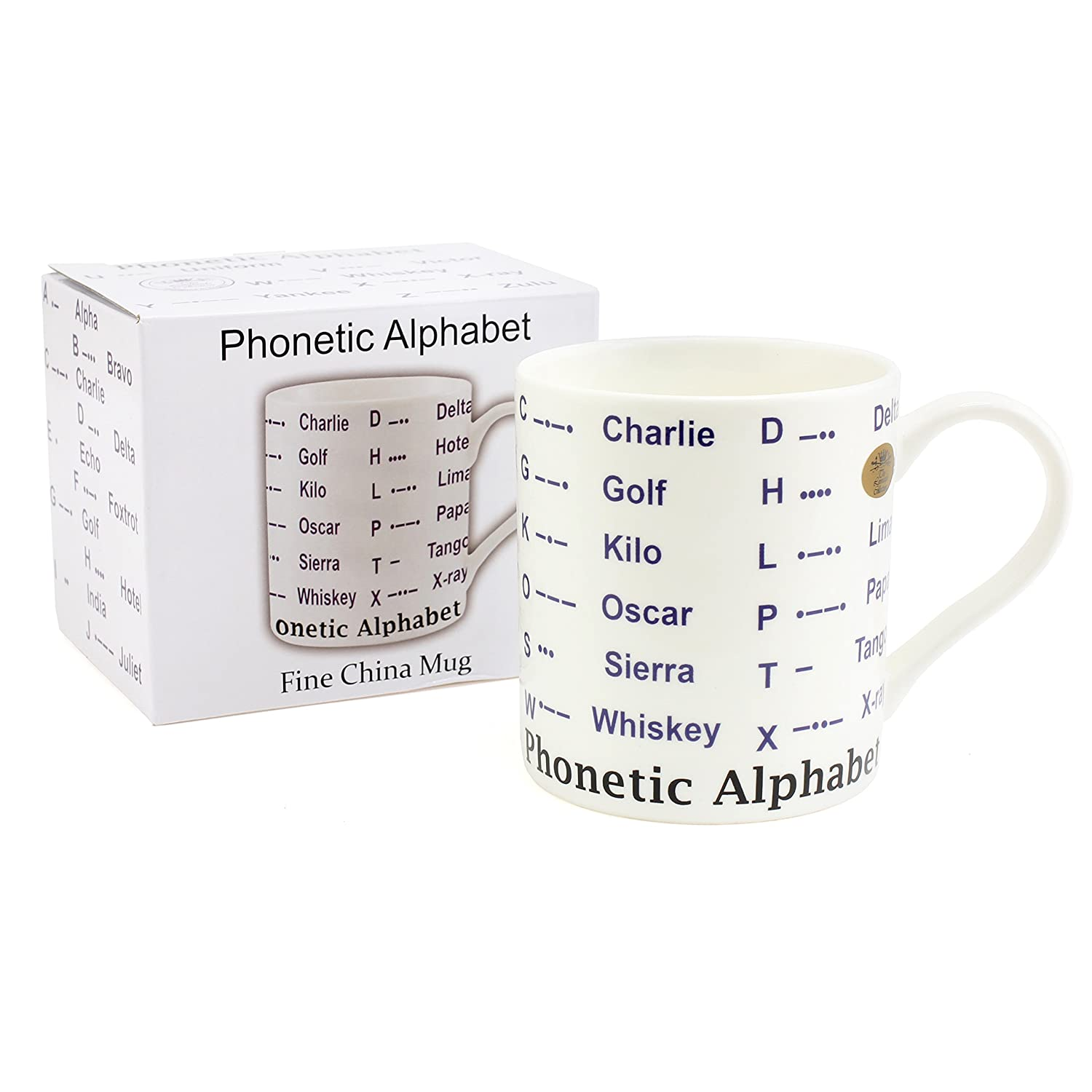 Leonardo Premium Phonetic Morse Alphabet Educational Ceramic Fine