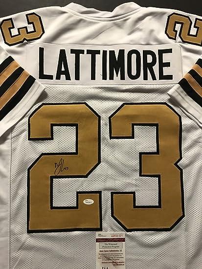 ... inexpensive autographed signed marshon lattimore new orleans saints  color rush football jersey jsa coa eb204 13edb a437d0151